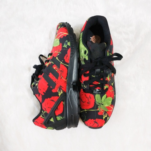 adidas rose print zx flux